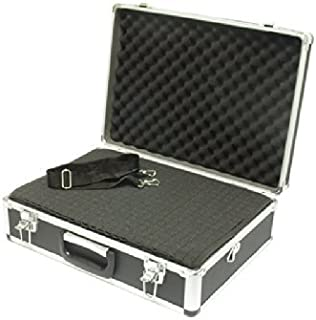 SRA Cases Aluminum Hard Case with Foam Insert, Black, 18.1 x 13 x 6 Inches