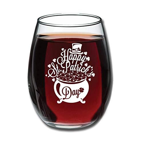Twelve constellations Rotweinglas - Fröhlichen St Patrick Tag Upgrade Gravieren Milchglas Good Touch speziell Dekoration White 350ml
