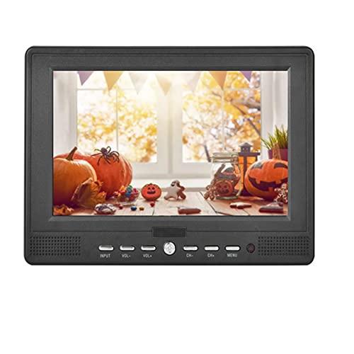 TV portatile da 7 '' per auto 16: 9 portatile T/T2 TV 1080P TV digitale TV Player Supporto video 1080p, supporto TV analogica/ATV, MIni Car TV con HDMI USB AV TF Card