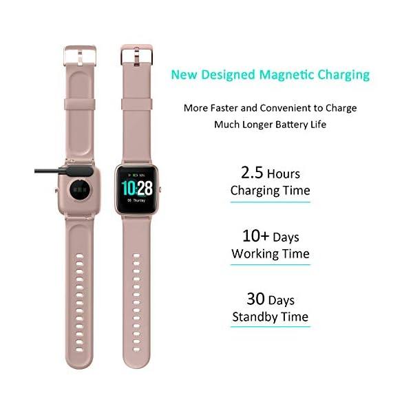 Reloj Inteligente Mujer Hombre, Smartwatch con Pulsómetro, Pulsera Actividad Inteligente con Cronómetros Podómetro… 5
