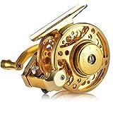x-speed Carrete De Pesca De Línea De Arreglo Automático Carrete De Pesca Ultraligero con Carrete De Pesca De La Fuerza Aérea (Color : Gold)