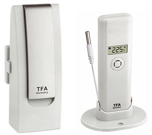 TFA Dostmann Weatherhub Observer Web Monitoring System, mit Temperatursender mit wasserfestem Kabelfühler