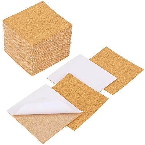 Apipi 40 Pack Self-Adhesive Cork Squares - 4