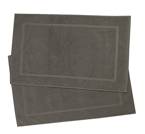 ZOLLNER 2 alfombras de baño, 100% algodón, 50x80 cm, marrón Topo