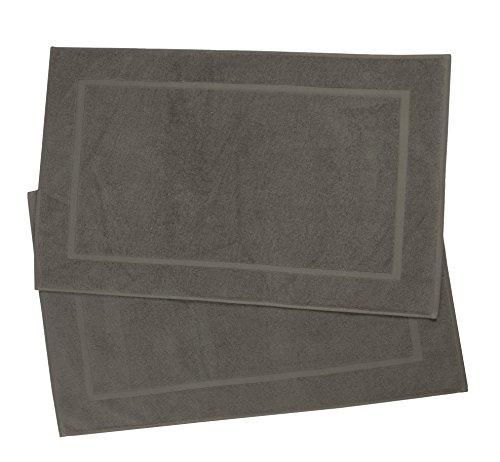 ZOLLNER 2er-Set Badematte Baumwolle, Taupe (weitere verfügbar), ca. 50x80 cm