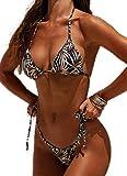 CheChury Bikinis Mujer Push Up 2021 Brasileños Estampado de Cocotero en Traje de Baño de Tubo - Brasileños Bañador Ropa de Dos Piezas