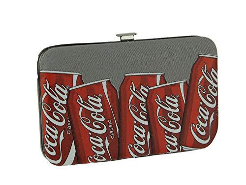 Coca-Cola Lattine Grigio Hard Sided Canvas Portafoglio