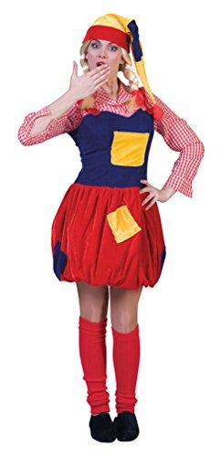 Karneval-Klamotten Zwergen Kostüm Damen Zwerg Kostüm Damen-Kostüm mit Zwergen-Mütze Garten-Zwerg Karneval Größe 44/46