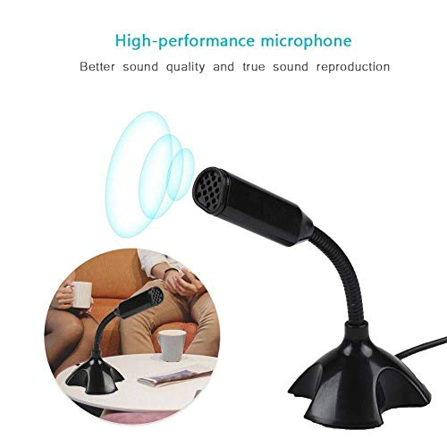 Tablor Noise Cancelling USB Microphone for Windows and Mac, Professional PC Microphone Computer, Laptop, Desktop and Notebook, Plug and Play Mic (Black/White)