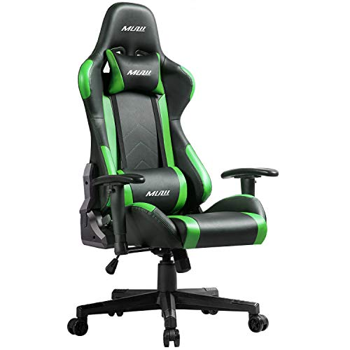 Muzii PC Gaming Chair for Pro,4-Color Choice PU Leather Racing Style Ergonomic Adjustable Computer...