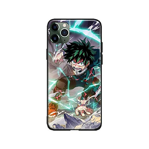 WZFT Schutzhülle für iPhone 12 (Motiv: Japanische Anime My Hero Academia Izuku Katsuki (8, iPhone 12) Schwarz