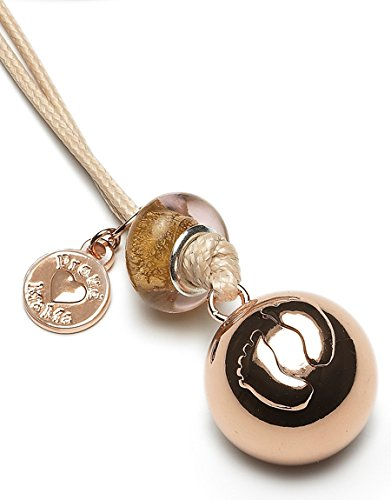 Proud Mama bola Basic Rosa Baby Bell Feet: El milagroso collar para embarazadas con una pequeña campana