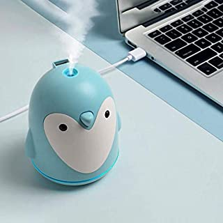 Penguin Air Humidifier Three in One 250ml Household Portable Fan USB Air Humidifier Suitable for Bedroom Baby Room Office and Travel Mute USB Hydrating Moisturizing Air, Aromatherapy