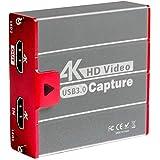 TreasLin キャプチャーボード 4K HDMI USB3.0 ビデオキャプチャカード ゲーム 1080P 60FPS HD 画質 Windows/Linux/Mac OSX 対応 PC / PS3 /PS4 / Xbox/Switch/Wii U/OBS、XSplit、ZOOM、Potplayer、twitch、Youtube適用 ゲーム実況・録画・配信 ライブ会議用 HSV3202