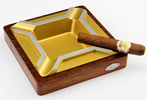 TZYHGJJ Aschenbecher Luxury Gadgets Tischaschenbecher Classic Square Gold Hochwertiger Aschenbecherhalter aus Porzellan,Color