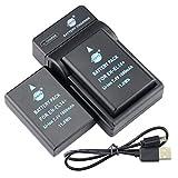 DSTE EN-EL14 - Batería y cargador para cámara Nikon Coolpix D5100, D5300, D5500, D3400, D5600, D3500, P7000, P7200 y P7800 (2 unidades)
