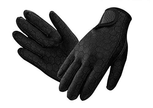 Neoprenhandschuhe Wasserdicht Tauchhandschuhe 1.5mm, Thermo Tauch Handschuhe Anti-Rutsch Neopren Handschuhe für Männer und Frauen,Schnorcheln,Kajakfahren,Surfen,M-Schwarz