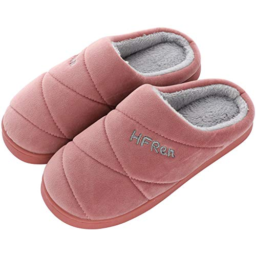 Women's Comfort Slippers,Men's Cotton Slippers Winter Thick All-Inclusive with Warm Home Winter Middle-Aged Anti-Slip Bag Followed by The Elderly larg