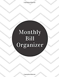 Monthly Bill Organizer: 31 day family organizer expense tracker notebook bill Colorado tracker bill book monthly 2019-2020