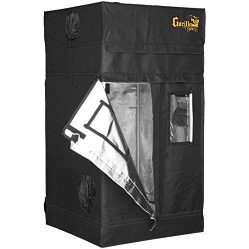 Gorilla Grow Tent Shorty | Complete Heavy-Duty 1680D Reflective Hydroponic 3-Foot by 3-Foot Grow...