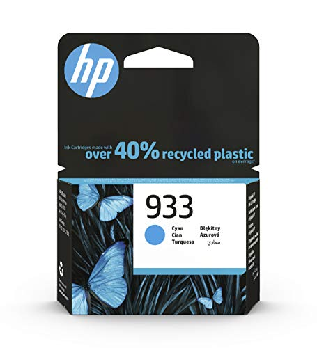 HP 933 CN058AE, Cian, Cartucho Original, de 330 páginas, para impresoras HP OfficeJet 6100, 7610 e 7612; HP OfficeJet 6600, 6700, 7110 e 7510