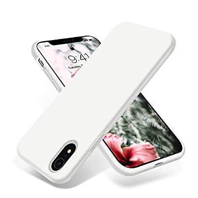 OTOFLY for iPhone XR Case, [Silky and Soft Touch Series] Premium Soft Silicone Rubber Full-Body Protective Bumper Case Compatible with Apple iPhone XR 6.1 inch - (White)