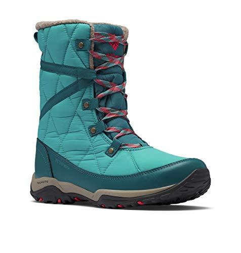 Columbia Women's CASCARA Omni-Heat Snow Boot, Teal/Poppy Red, 9
