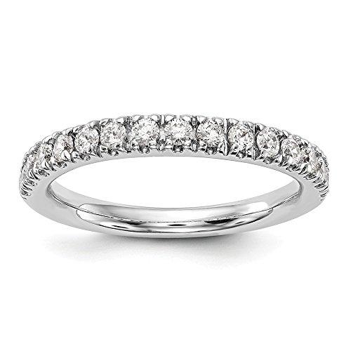 DIAMOND2DEAL INC Anillo de Oro Blanco de 14 Quilates con Diamante de Origen Real, VS/E, 0,495 Quilates