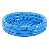 PPLAS Niños Inflable Piscina CLORURO DE POLIVINILO Niños Bañera Bañera Diversión Agua al Aire Libre Play Basin Ocean Balls Contenedor (Color : 100cm)