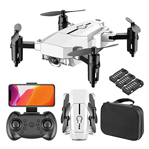 l b s RC Drone Kids with 4K Live Video Plegable RC Quadcopter 110 ° Super Wide Angle Support VR Experiencia 3D Anti-Shake Estabilización Shooting con (Color: Negro) (Blanco)