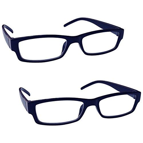 The Reading Glasses Company Gafas De Lectura Azul Negro Ligero Cómodo Lectores Valor Pack 2 Hombres Mujeres Rr32-3 +1,00 2 Unidades 58 g