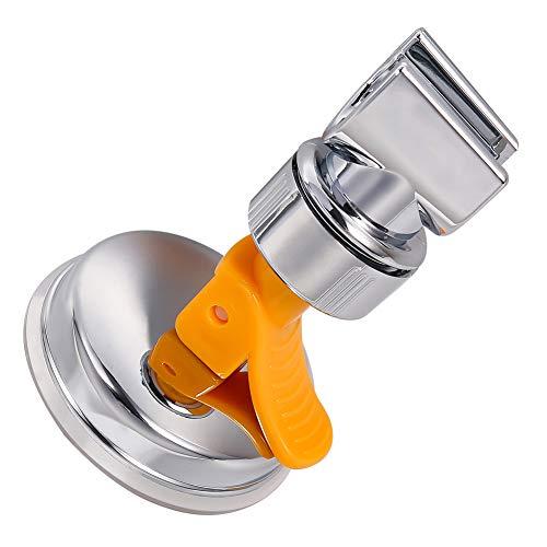 Xinzistar Duschkopfhalterung Duschkopfhalter Vakuum-Saugnapf Verstellbar Abnehmbar Universal Handbrause Kopfhalterung ABS-Kunststoff Ohne Bohren