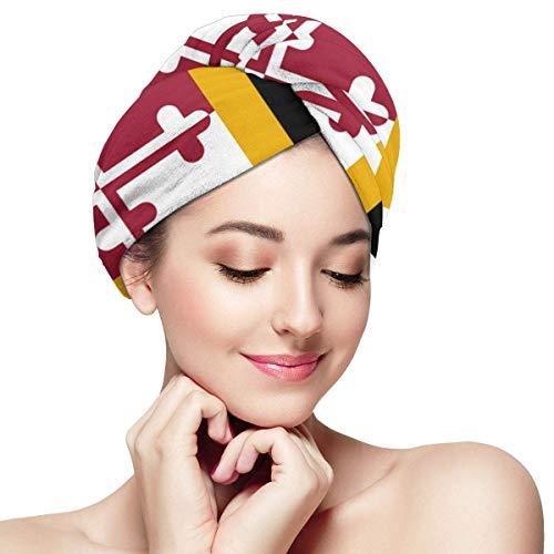 Maryland State Hair Drying Towel - Bonnet pour cheveux secs pour femmes filles