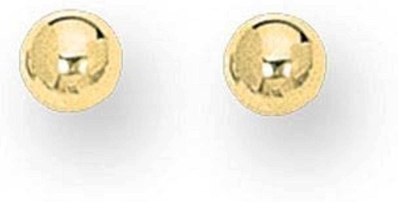 14k Shiny Ball Post Earrings in White gold Yellow gold pink gold and 10mm 3mm 4mm 5mm 6mm 7mm 8mm