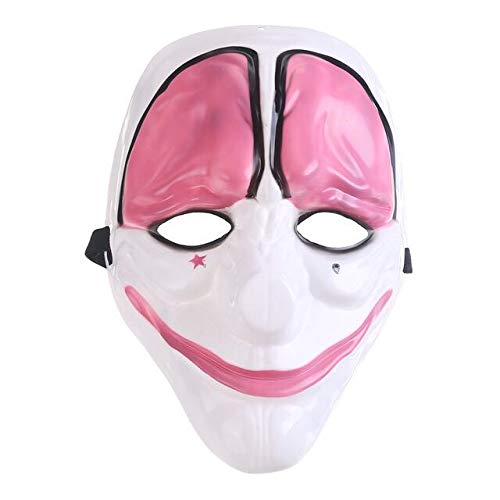 The Collector Mask,Payday 2 Game Theme Horror Cosplay Party Mask, Masquerade Party Mask,Halloween Clown Mask for Memorial and Collection