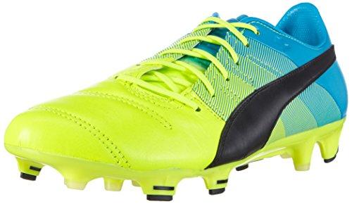 Puma Evopower 1.3 LTH FG, Botas de fútbol para Hombre, Amarillo-Gelb (Safety Yellow-Black-Atomic Blue 01), 40.5 EU
