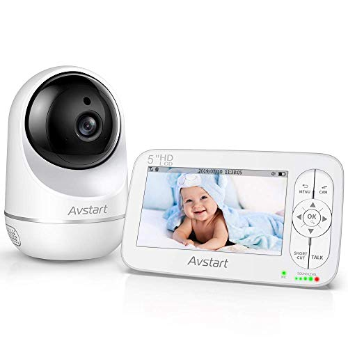 Video Baby Monitor, Baby Camera Monitor with 2-Way Audio, 5' Hd LCD Display, 900ft Range, Night...
