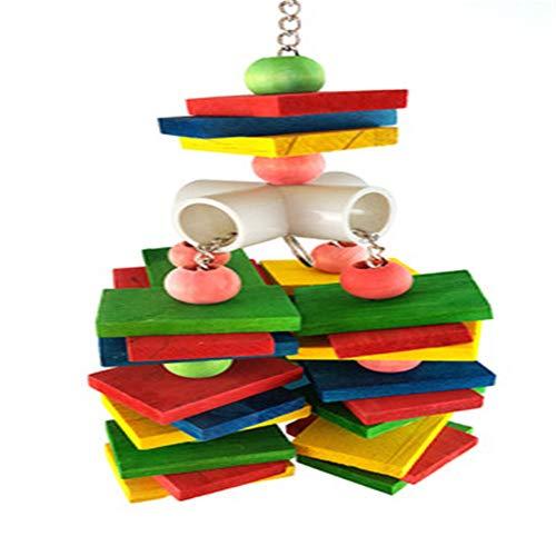 Hey Shop große, mittelgroße und kleine Papageien bunte Bausteine Knabberspielzeug, bunte Bite String Kletterleiter