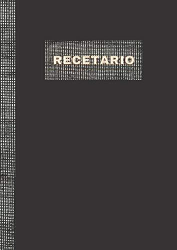 RECETARIO: Libreta tipo libro para escribir recetas. Diseñado interiormente para anotar todos...