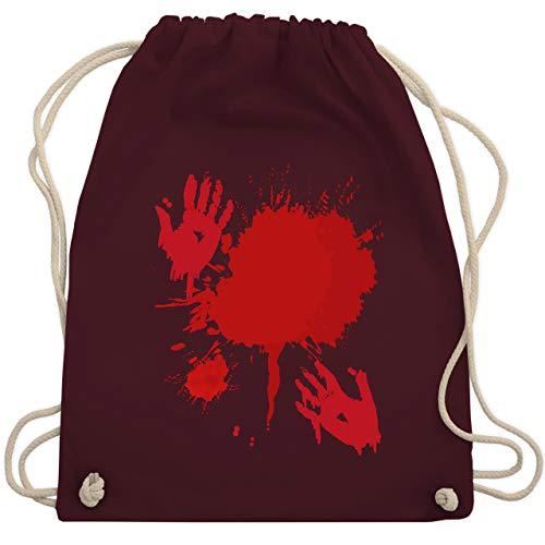Shirtracer Halloween - Blutig Fasching Kostüm - Unisize - Bordeauxrot - Blut - WM110 - Turnbeutel und Stoffbeutel aus Baumwolle