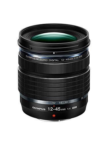 Olympus M.Zuiko DIGITAL ED 12-45mm F4.0 PRO Objektiv, Standard Zoom, Passend für alle MFT Kameras (Olympus OM-D & Pen Modelle, Panasonic G-Serie), Schwarz