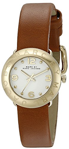 Marc by Marc Jacobs Women's MBM8575 Amy Gold-Tone Watch with Brown Leather Band