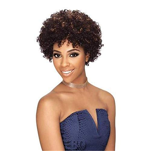 peluca Pelucas elegantes para las mujeres de las mujeres europeas y estadounidenses Pelucas con estilo de pelo corto para las mujeres Africano Pequeño volumen peluca de alta temperatura Seda de seda P