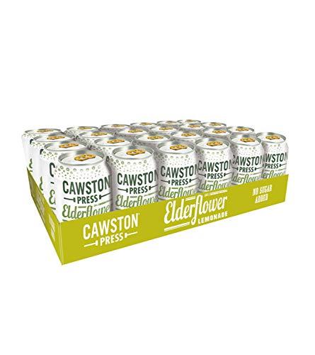 Cawston Press Fizzy Drink Elderflower Cans with Pressed Juice 330 ml (Pack...