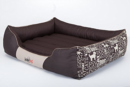 Hobbydog L PRENAP11 Panier pour Chien Taille L 65 x 50 cm Housse Amovible en Tissu de codura résistant Marron Taille L 1,8 kg