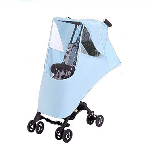 LJPzhp-Baby Poussette Protection Pluie Bébé Trolley Universal Rain Cover Landau Coupe-Vent Anti-poussière Rain Cover bébé Pare-Brise Universel (Couleur : Bleu, Taille : Taille Unique)
