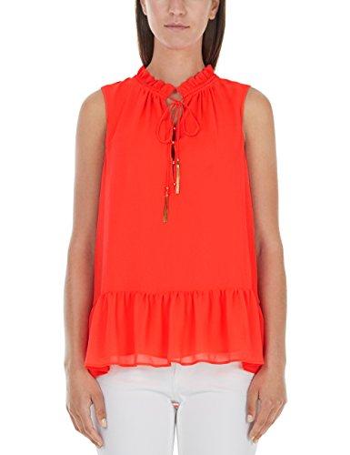Marc Cain Collections Damen JC 56.08 W57 Bluse, Orange (Neon Red 227),...