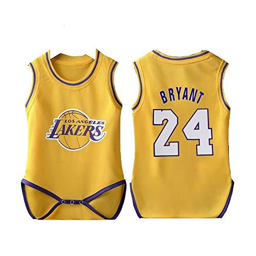 Kobe 24 # Bryant Baby Jersey Uniforme de Baloncesto, Chaleco sin Mangas Deportivo Traje de Verano (6-30 Meses)