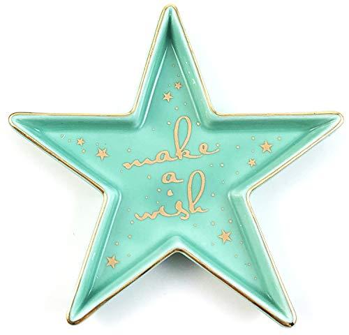 Star-Shaped Make a Wish Ceramic Trinket Plate