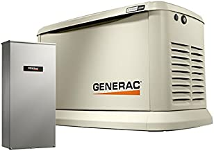 Generac 70432 Home Standby Generator Guardian Series 22kW/19.5kW Air Cooled with Wi-Fi and Transfer Switch, Aluminum